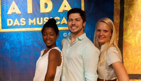 Musical Aida - von links nach rechts - Isata Kamara (Aida) Markus Oschwald (Radames) Jennifer Nowack (Amneris)